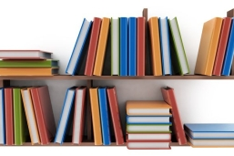 Book resources on shelf
